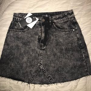 Boohoo Acid Wash denim skirt